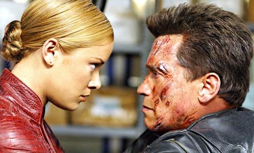 TERMINATOR 3: RISE OF THE MACHINES, Kristanna Loken, Arnold Schwarzenegger, 2003, (c) Warner Brother